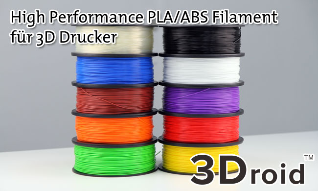 high performance 3droid filament rolle pla abs 1 75mm 3d drucker farbauswahl ebay. Black Bedroom Furniture Sets. Home Design Ideas