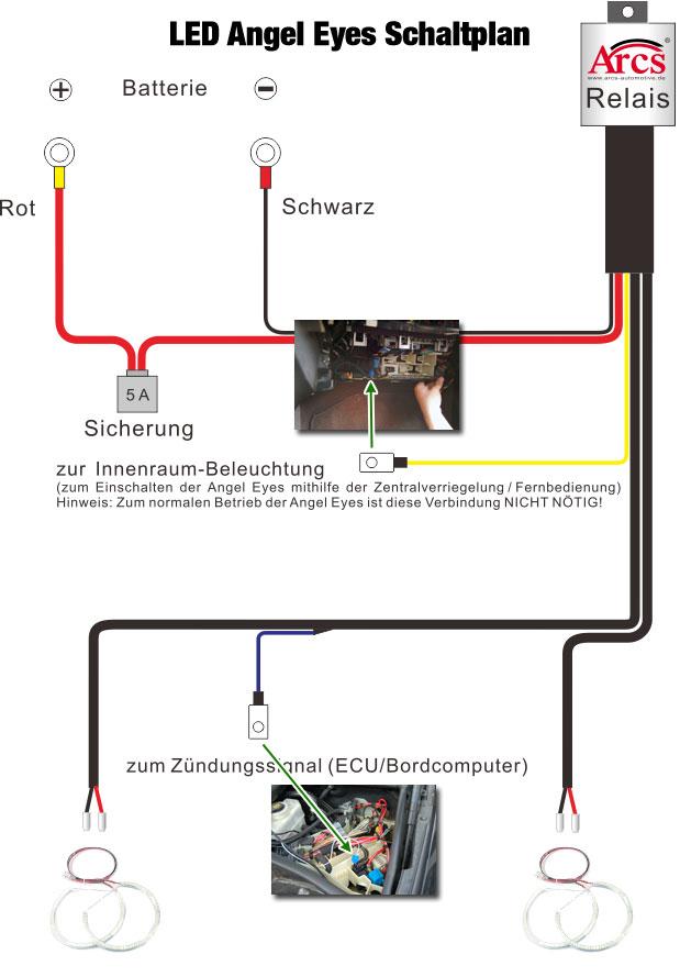Niedlich Wie Man Ein Relais Für Den Scheinwerfer Anschliesst Galerie ...