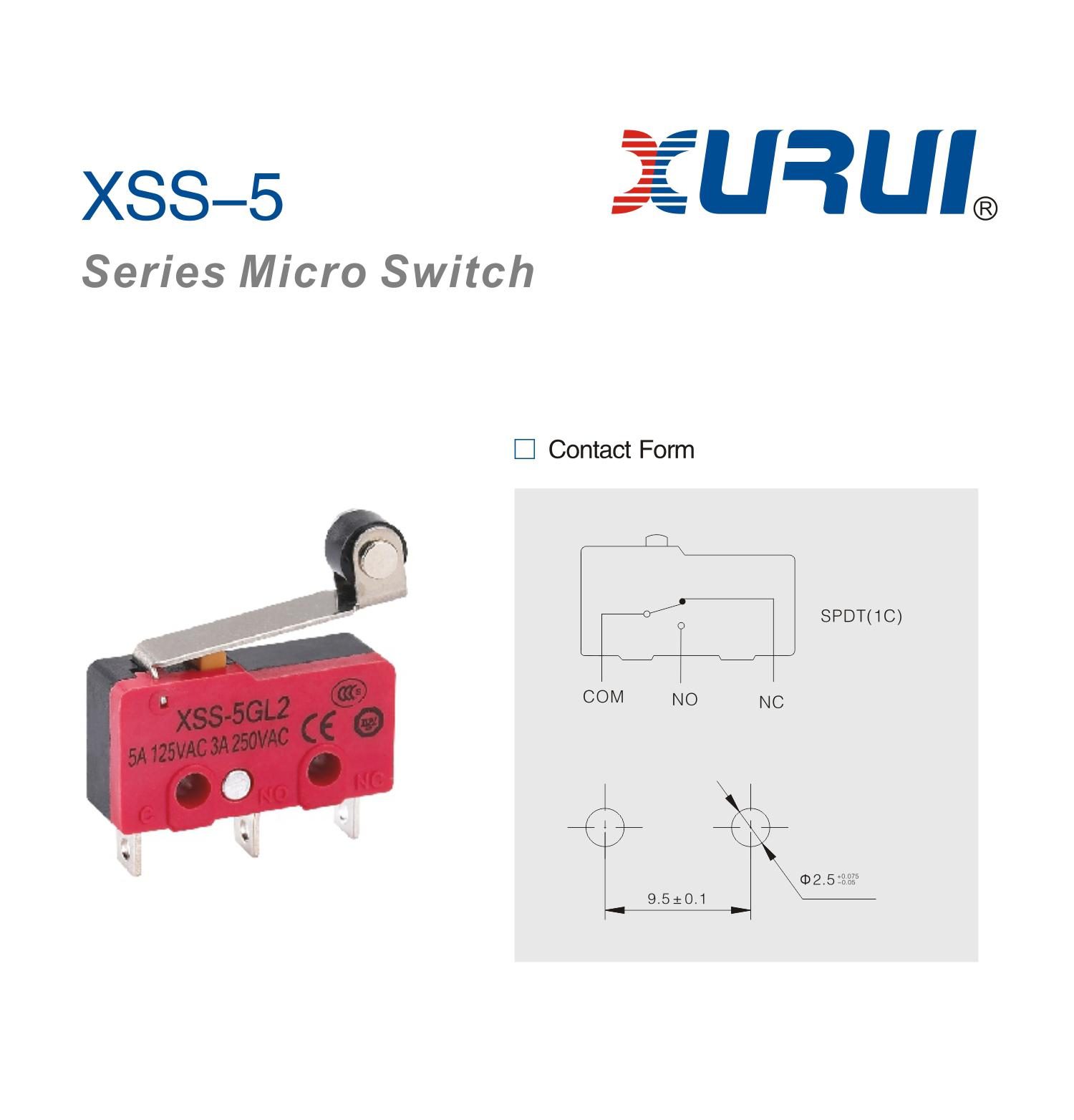 5x Endschalter Endstop Mircoswitch XSS-5GL2 Switch mechanisch RepRap ...